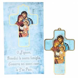 accessoires pour bénédictions: Croix pvc Sainte Famille 13x8,5 cm
