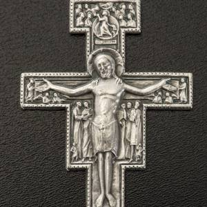 Croix St Damien métal argenté 5.8 cm s2