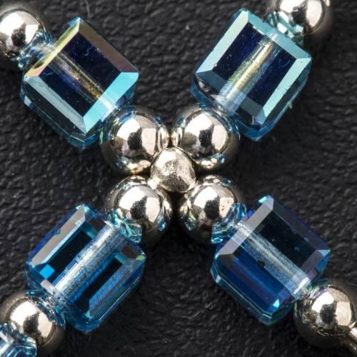 Croix Swarovski bleu ciel cubique s3