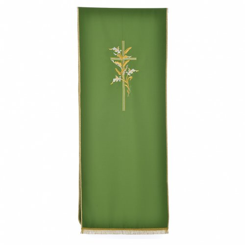 Cross & ears of wheat pulpit cover, polyester s5