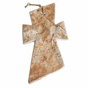 Crosses and magnets: Cross in Medjugorje red stone 13x8cm