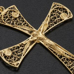 Cross pendant, gold-bathed 800 silver, 5,47g s3