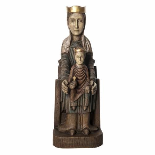 Crowned Virgin of Seez statue in painted wood 66 cm, Bethleem s1