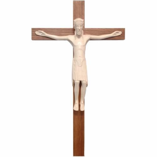 Crucifijo de Altenstadt románico, madera Valgardena encerada s1