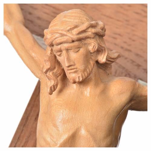 Crucifijo de mesa cruz recta Corpus Valgardena patinado s6