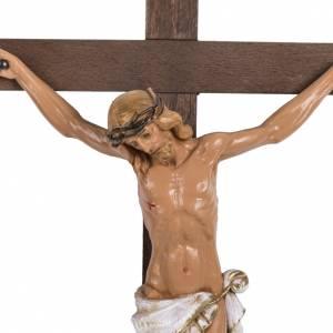 Crucifijo Fontanini cruz madera 38 x 22 cuerpo PVC s2