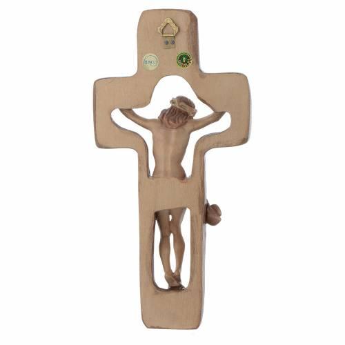 Crucifijo moldeado modelo Corpus, madera Valgardena varias patin s3