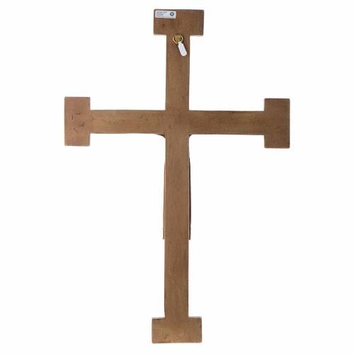 Crucifix en pierre Chist Roi en rouge croix blanche s5
