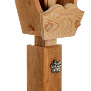 Crucifix in larch wood, Val Gardena s9