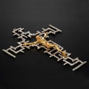 Crucifix en métal: Crucifix moderne en bronze