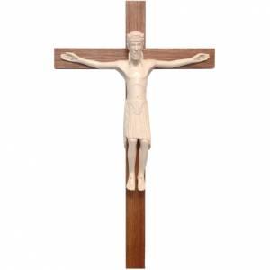 Crucifix roman de Altenstadt bois naturel ciré s1