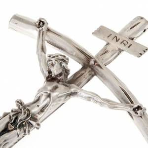 Crucifijos de metal: Cruz pastoral Juan Pablo II 26 cm