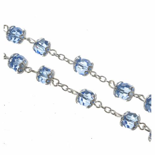 Crystal rosary 8mm with Lourdes medal s5