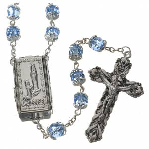 Crystal rosary 8mm with Lourdes medal s1