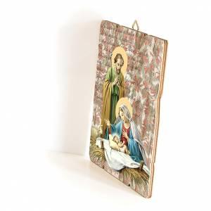 Cuadros, estampas y manuscritos iluminados: Cuadro bordes irregulares Natividad 25x20 cm