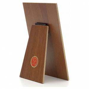 Cuadro Papa Francisco resina sobre madera Landi s2