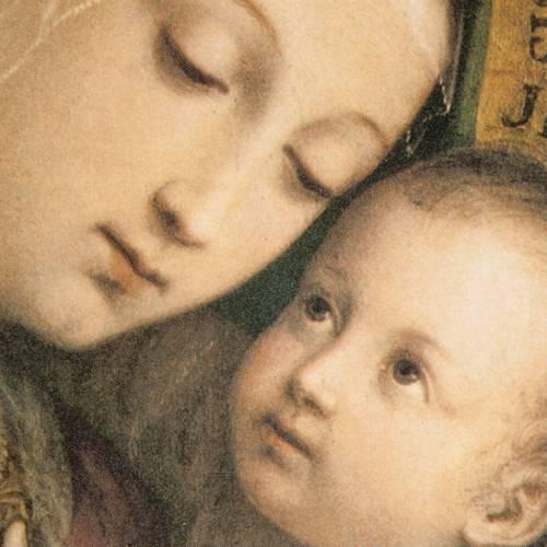 Cuadro Virgen del Buen Consejo marco dorado s2