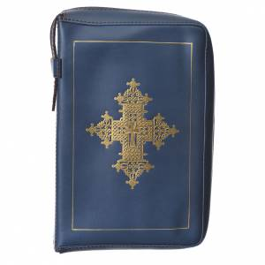 Custodie lit. ore 4 vol.: Custodia lit. ore 4 vol. croce oro blu Bethléem