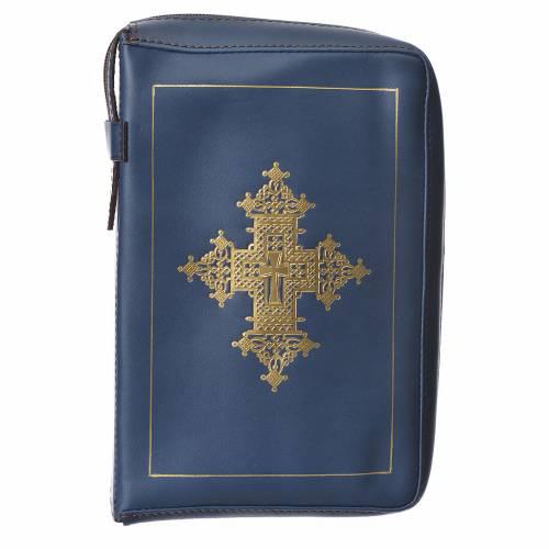 Custodia lit. ore 4 vol. croce oro blu Bethléem s1