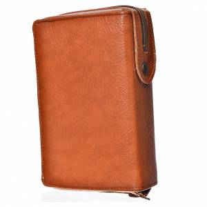 Daily Prayer covers: Daily prayer cover in brown bonded leather with image of the Christ Pantocrator