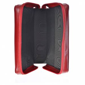 Daily prayer cover red leather Christ s3