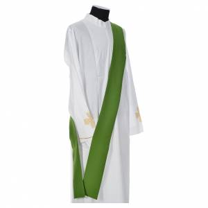 Dalmatic 100% polyester with cross, ear of wheat and flame s9