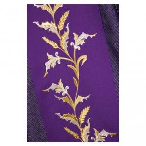Dalmatica 93% lana 4% pol 3 % viscosa ricamo spighe fascione lavorazioni oro s2