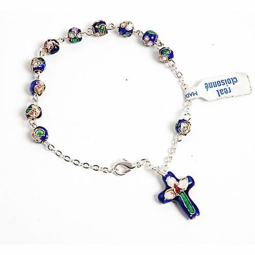 Dark blue cloisonnè rosary bracelet s1