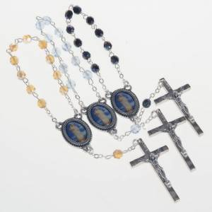 Decade glass beads rosary, Our Lady s1