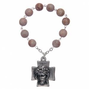 Single decade rosaries: Decade rosary, imitation stone beads