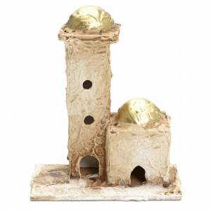Maisons, milieux, ateliers, puits: Décor crèche maison arabe 16x10x6