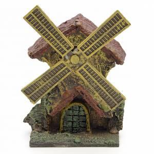 Moulins en miniature: Décor crèche moulin à vent en résine