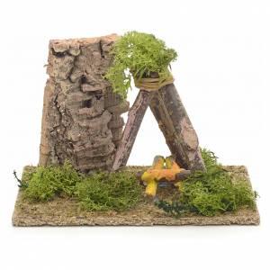 Décor crèche puits en bois 9x14x9 s1