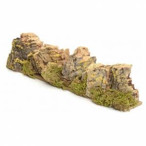 Maisons, milieux, ateliers, puits: Décor crèche roches en liège 4x24x6