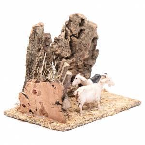 Décor mangeoire et chèvres 10x15x10 s3