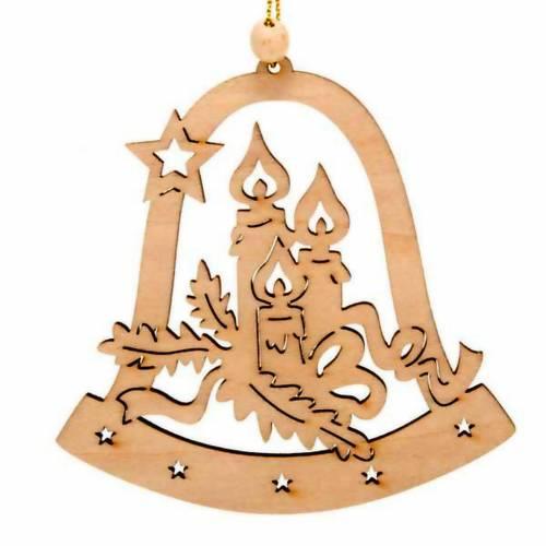 Decoración Navidad campana con velas s1