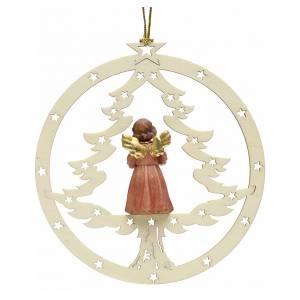 Decoración Navidad Ángel abeto y notas s2