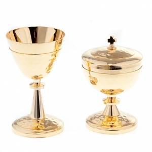 Metal Chalices Ciborium Patens: Decorated chalice and ciborium