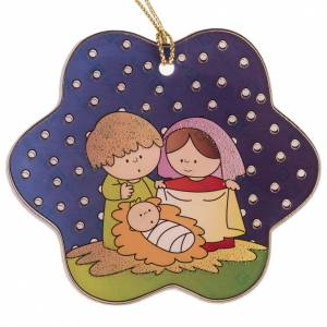 Christmas tree ornaments in wood and pvc: Decoration for the Christmas tree in plexiglass, nativity