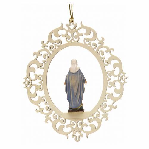 Décoration Noël Notre Dame des Grâces bois gravé s2
