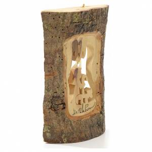 Décoration sapin berger en bois taillé Terre Sainte s2