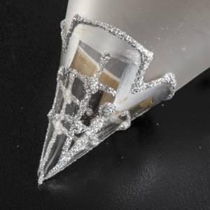 Décoration sapin goutte en verre soufflé s4
