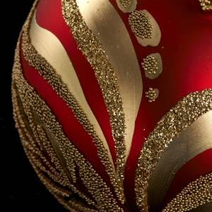 Decoro Albero Natale, palla vetro rossa oro 6 cm s3