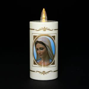 Votive candles: Disposable votive candle, Our Lady of Medjugorje, lasting 50days