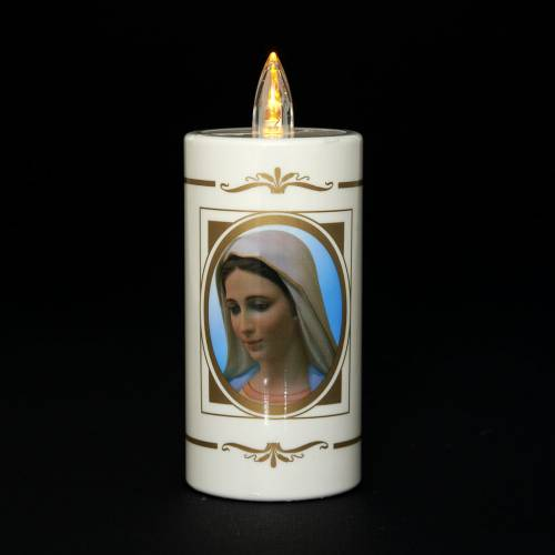 Disposable votive candle, Our Lady of Medjugorje, lasting 50days s2