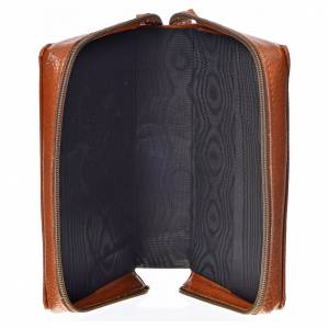 Divine Office covers: Divine office cover brown bonded leather Our Lady of the tenderness