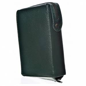 Divine Office covers: Divine office cover in green bonded leather with image of the Christ Pantocrator with open book