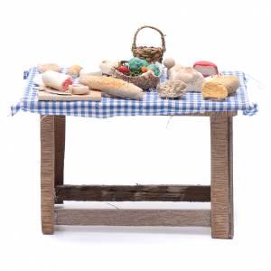 Neapolitan Nativity Scene: DIY neapolitan nativity scene table with food 15x15x10 cm