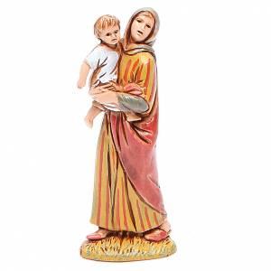 Donna con bimbo 6,5 cm Moranduzzo stile storico s1