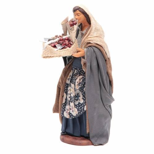 Donna con sacco di semi in mano 14 cm presepe napoletano s2
